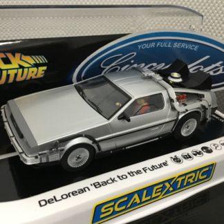 SCALEXTRIC C4117 DELOREAN BACK TO THE FUTURE DPR. 1/32 Slot Car.