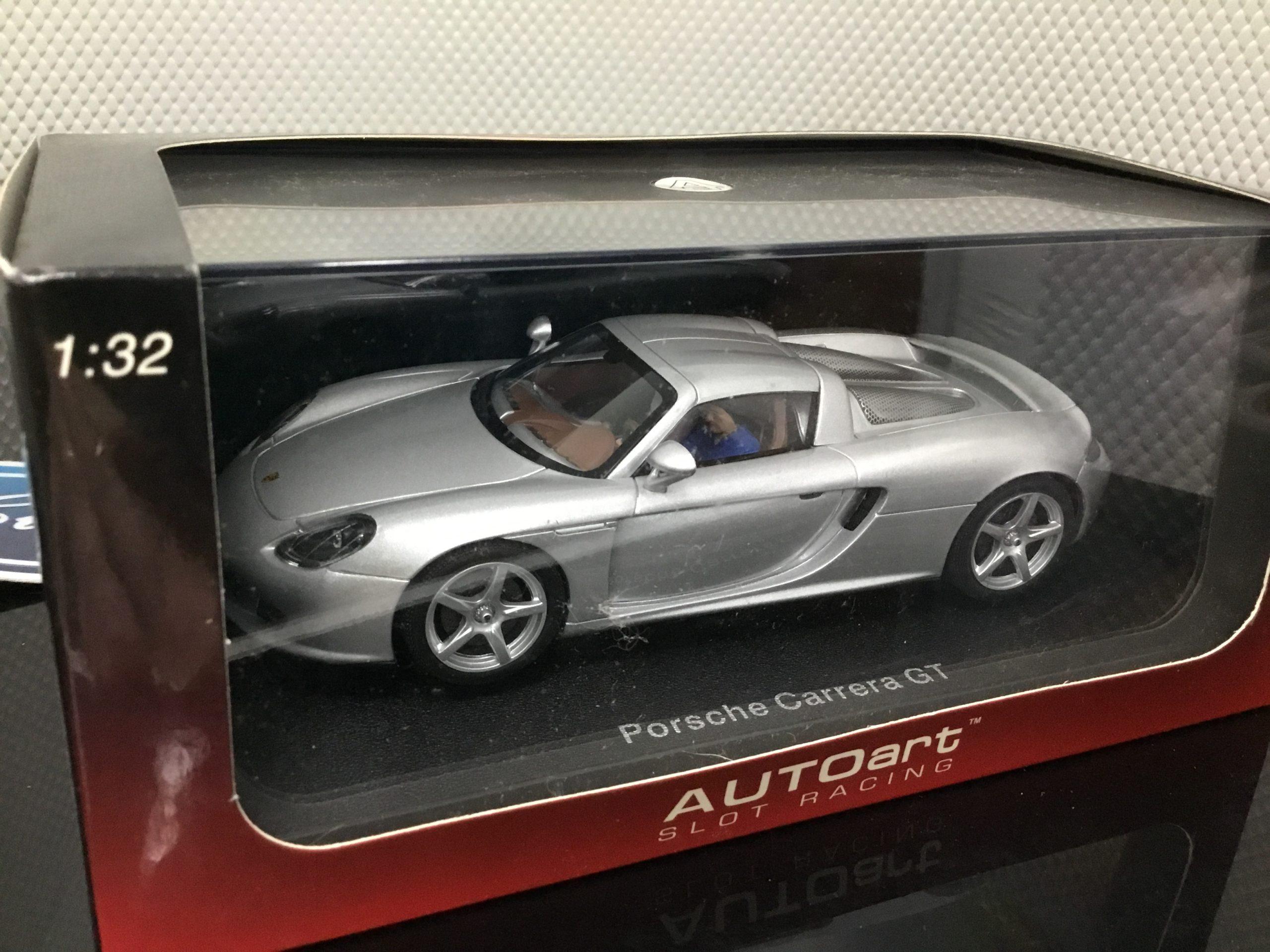 AutoArt 13191 Porsche Carrera Silver 1/32 Slot Car.