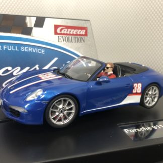 Carrera Evolution 27550 911 Cabriolet Blue.