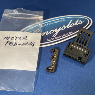 Carrera Motor Mount Pod with Magnet. Should Fit Nascar COT, 2010 Camaro, Monza and Porsche.
