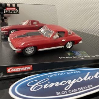 Carrera Evolution 25429 Chevy Corvette Sting Ray 427 1/32 Slot Car, Used.
