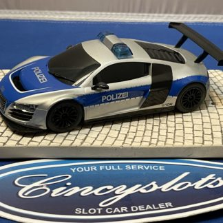 Scalextric Audi R8 1/32 Slot Car Used Polizei.