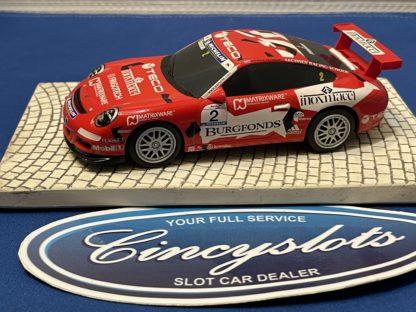 Scalextric Porsche GT3 1/32 Slot Car Burgfonds Used