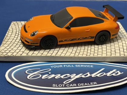 Scalextric Porsche GT3 1/32 Slot Car Orange Used