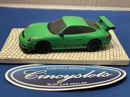 Scalextric Porsche GT3 1/32 Slot Car Green Used