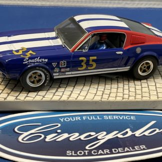 Pioneer Mustang #35 Blue 1/32 Slot Car Used.