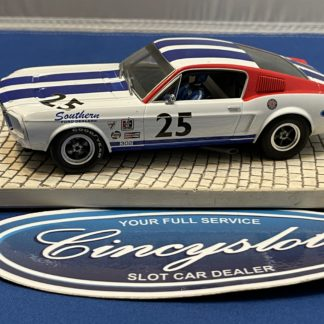 Pioneer Mustang #25 White 1/32 Slot Car Used.