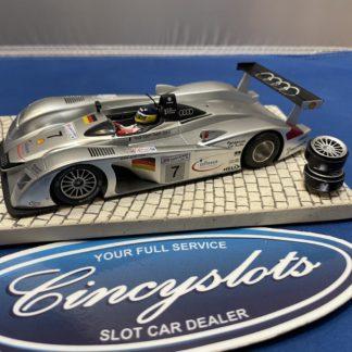Slot.it Audi R8 Silver 1/32 Slot Car. Used, no box.