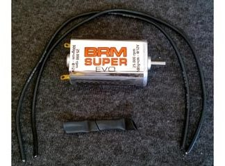 BRM BRMS-033SE Super EVO Higher Performance Racing Motor with lead wires.