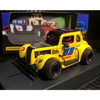 Pioneer P068 Ford Legend Racer Yellow #52 1/32 Slot Car.
