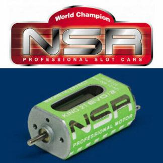 NSR 3022 King Motor 21k RPM Magnetic Effect @ 12V for 1/32 slot car.