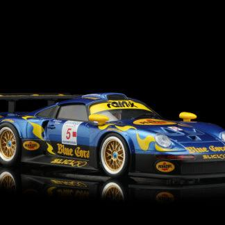 RevoSlot RS0103 Porsche 911 GT1 Blue Coral #5 1/32 Slot Car.
