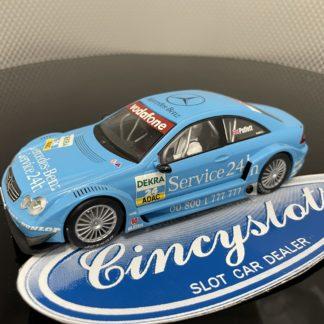 Scalextric DTM Mercedes CLK #24 Blue 1/32 Slot Car.